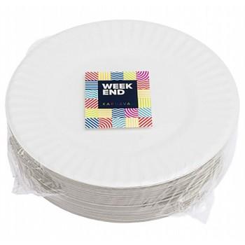 Тарелка бумажная круглая, 18см