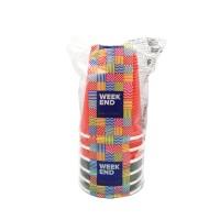 Бумажный стакан гофра цветной, 250 мл