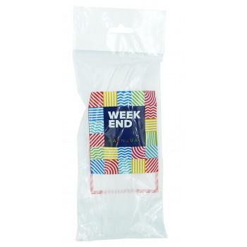 Вилка пластиковая прозрачная, Weekend Karnaval